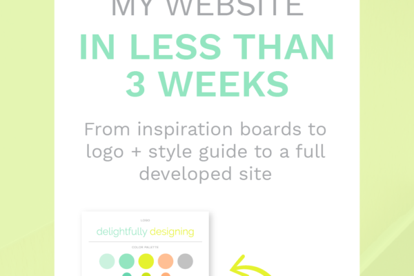 how to build a site in less than 3 weeks, web design, website design, inspiration boards, logo, style guide, branding, small business, business, business moms, mompreneur, women in business, women entrepreneur