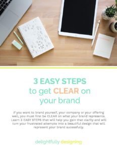 3 Easy Steps to get CLEAR on your Brand