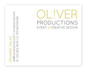 Oliver Productions Business Card