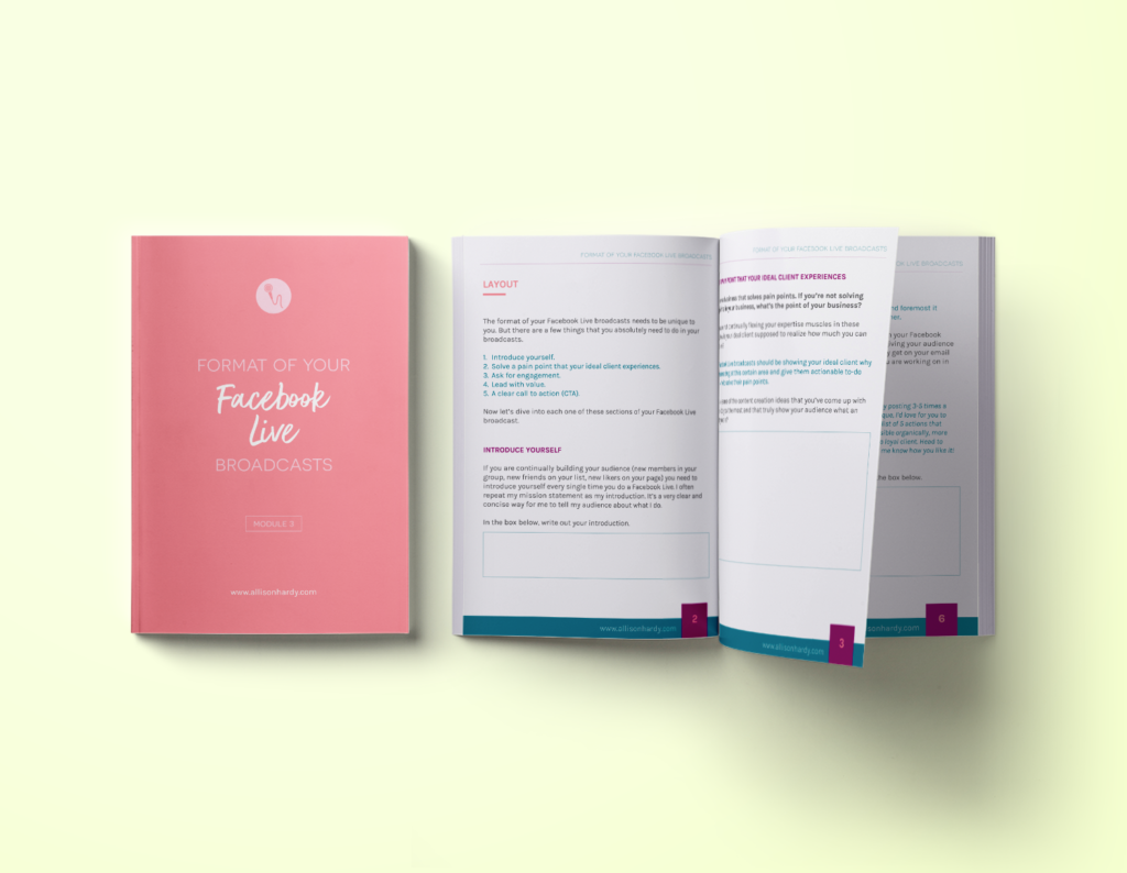 workbook design, ebook design, opt-in design, allison hardy