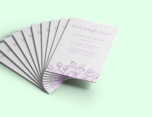 business card design, business card, branding, logo work, logo design, printing, letterpress printing, honizukle press, house of lilac