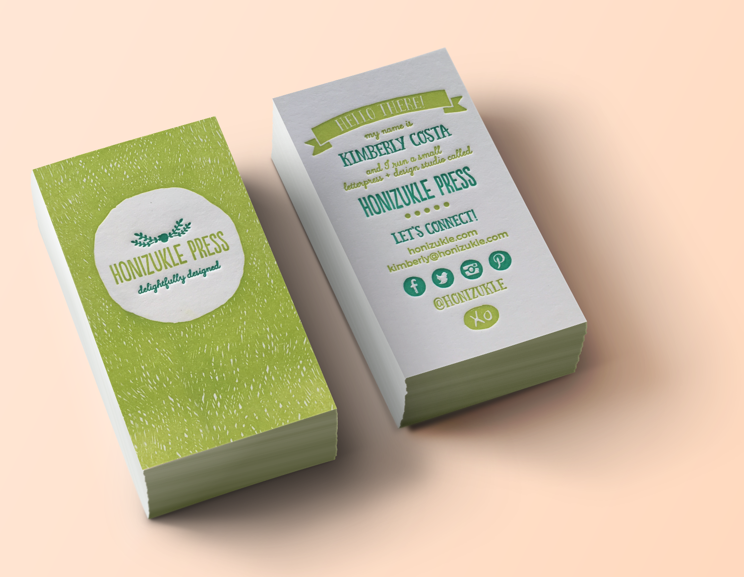 Honizukle Press Business Card | Delightfully Designing