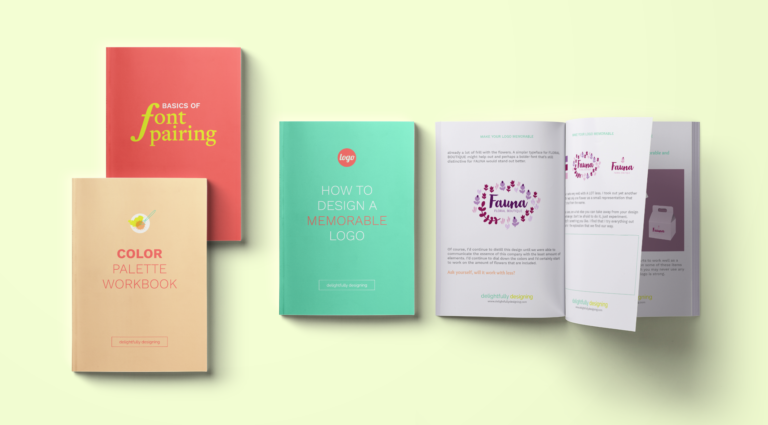 Brand Core Workbooks Set, fonts in branding, how many fonts to use in branding